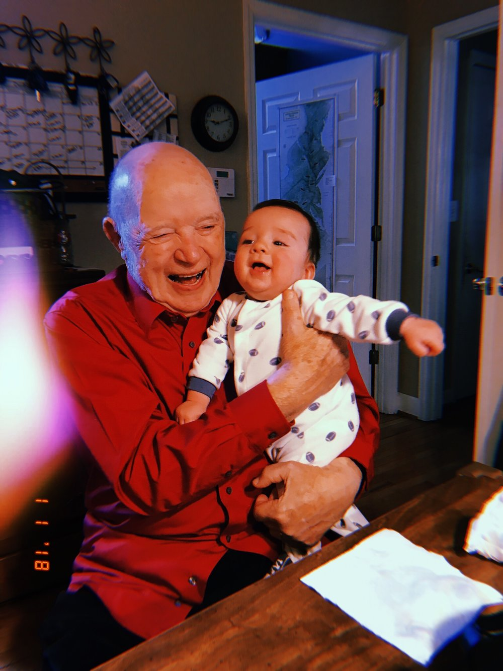 Charlie with Papa Ward