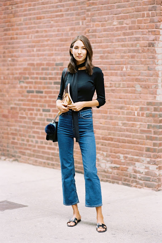 Some trends last a few seasons, and I'm happy to see that cropped flares are one of them. Fully preparing on expanding my fall uniform to include options inspired by these perfectly transitional outfits.