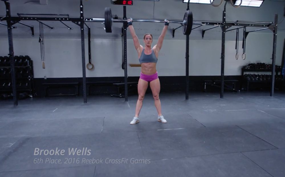 Click here to fine the full video of Brooke Wells complete CrossFit.com WOD 170418