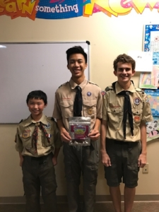 Scouts from Troop 706 working hard to fundraise with 2 Fantastic Kids Jerky!