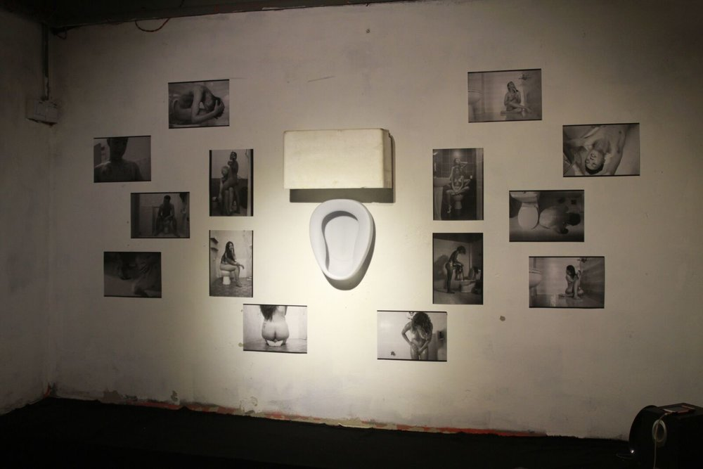 Toilet Installation exhibited in Shanghai, China. Exhibited in BASEMENT 6, Februrary 2017.