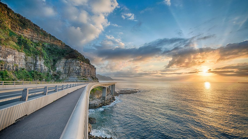 The famous Seacliff Bridge