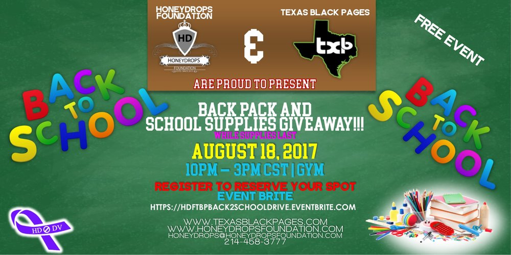 Back to School Community Drive