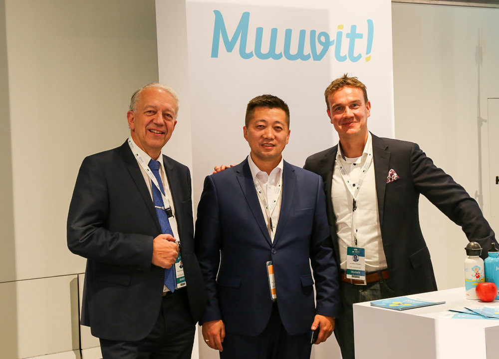 Finland meets Mongolia! Dr. Pekka Puska, Mr. Tsogtbaatar Byambaa and Muuvit CEO Mika Merikanto
