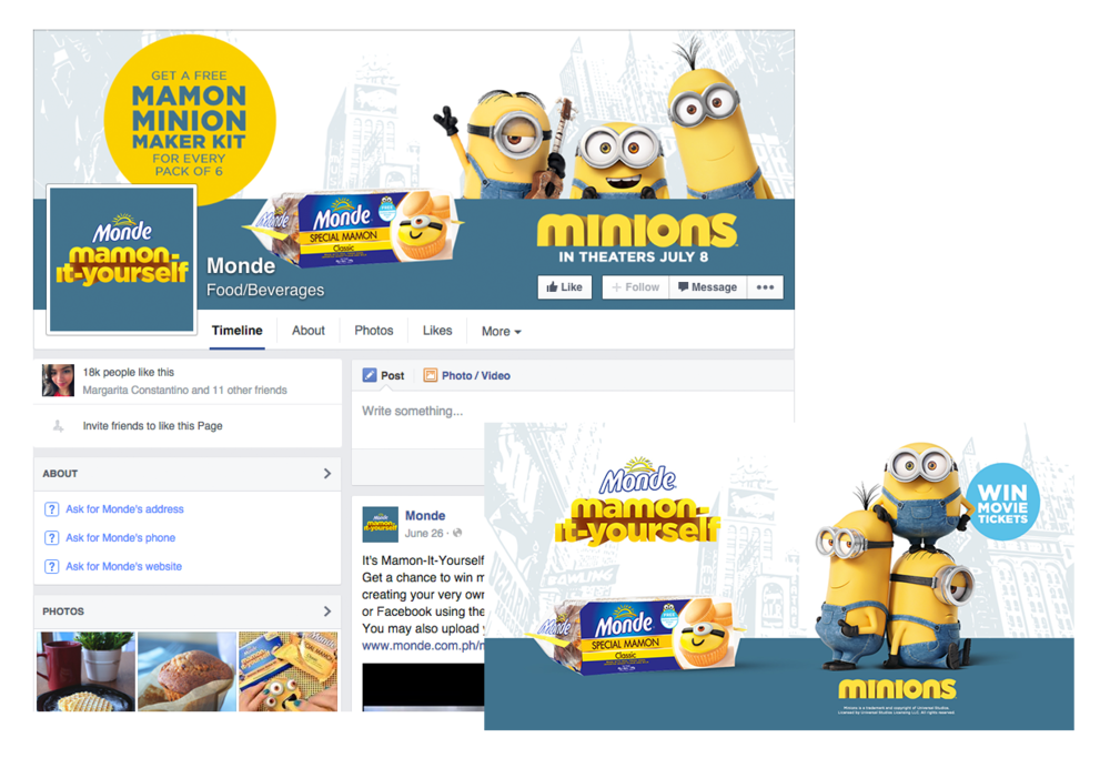 Facebook Cover Photo and Domain Ad