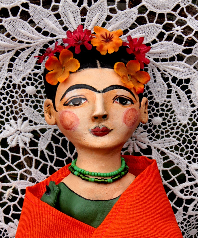 Frida and the orange shawl (detail)