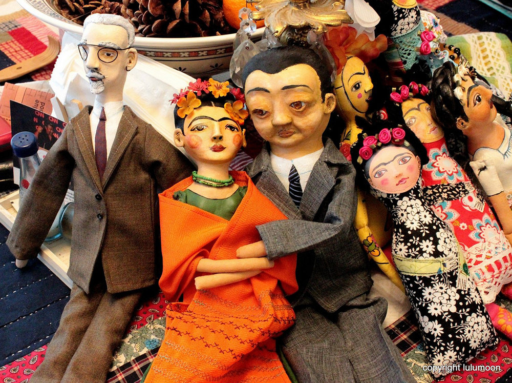 Frida and Diego and friends