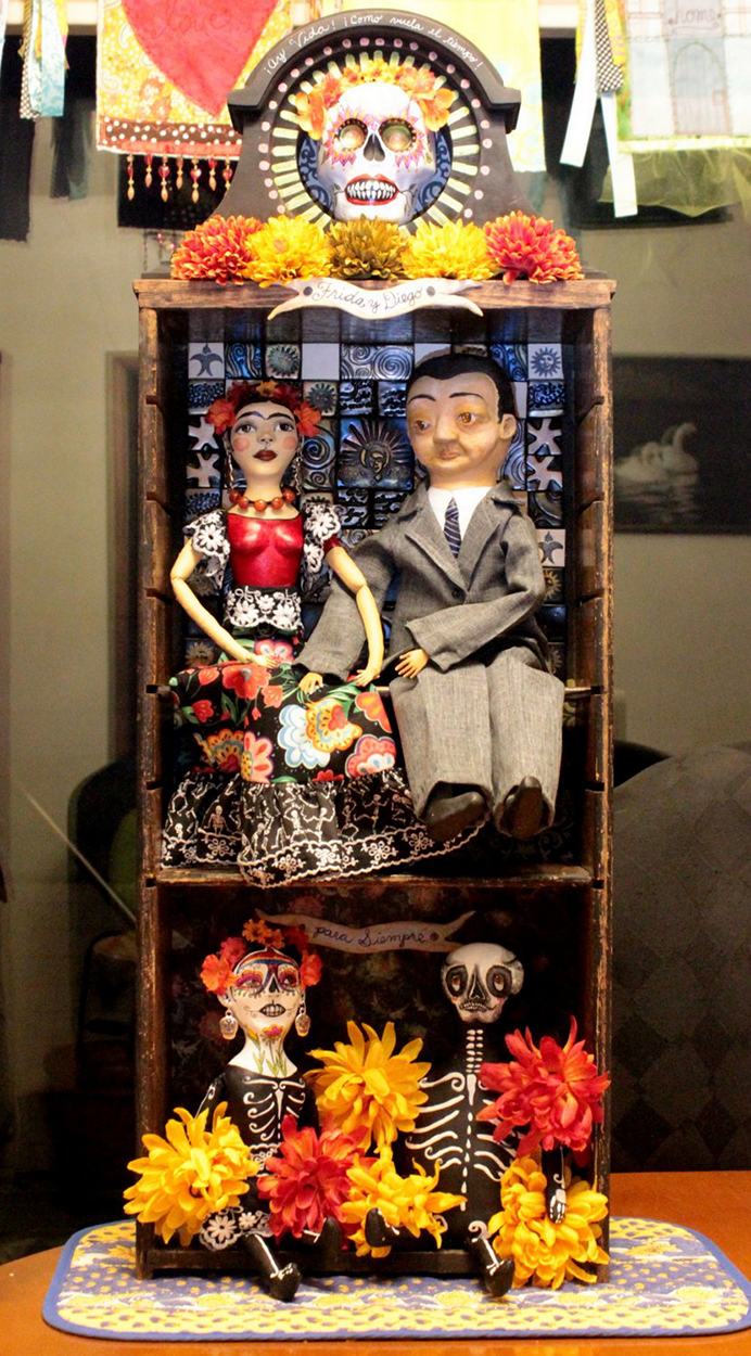 Frida and Diego Day of the Dead Shrine