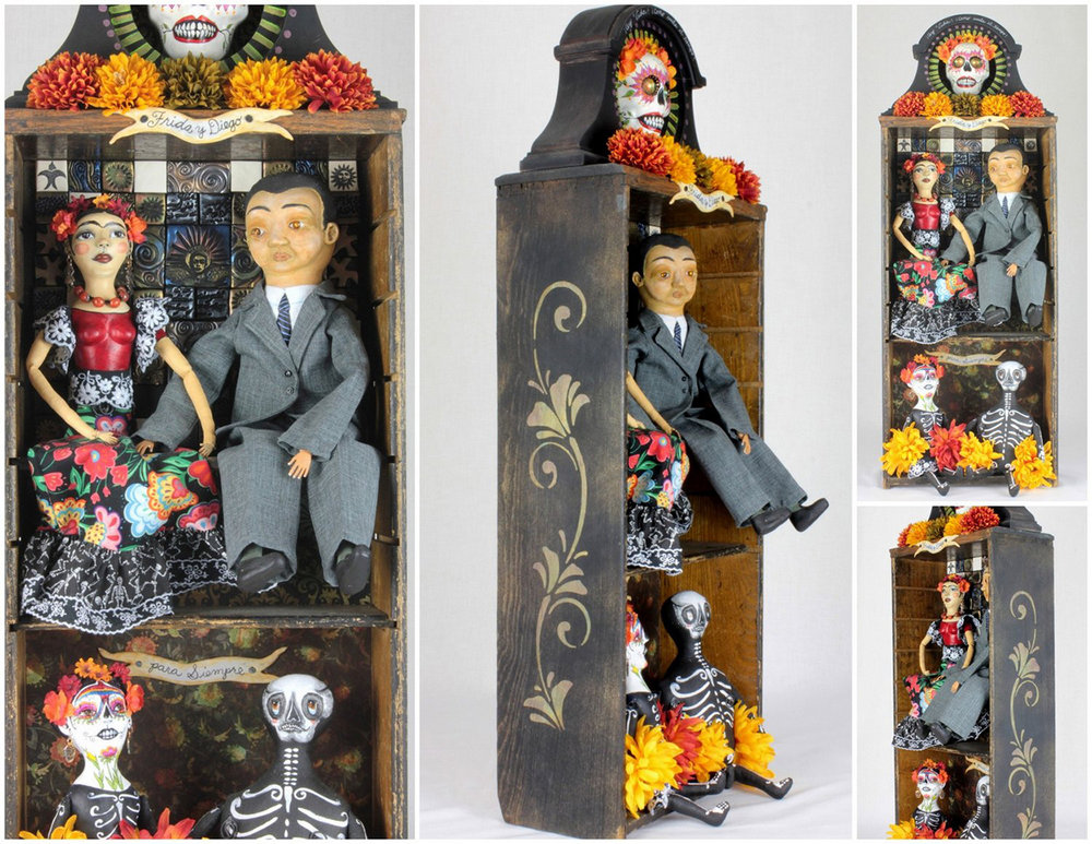 Frida and Diego Day of the Dead Shrine (multiple views)