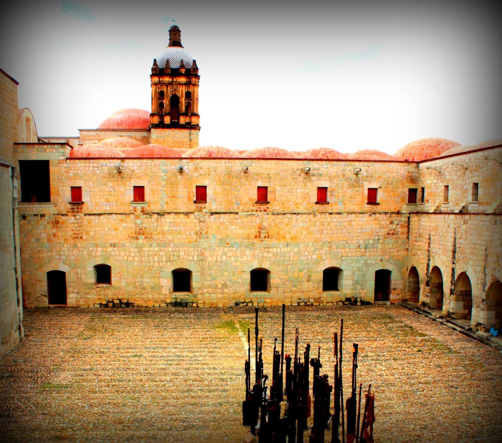 The courtyard inside Santo Domingo