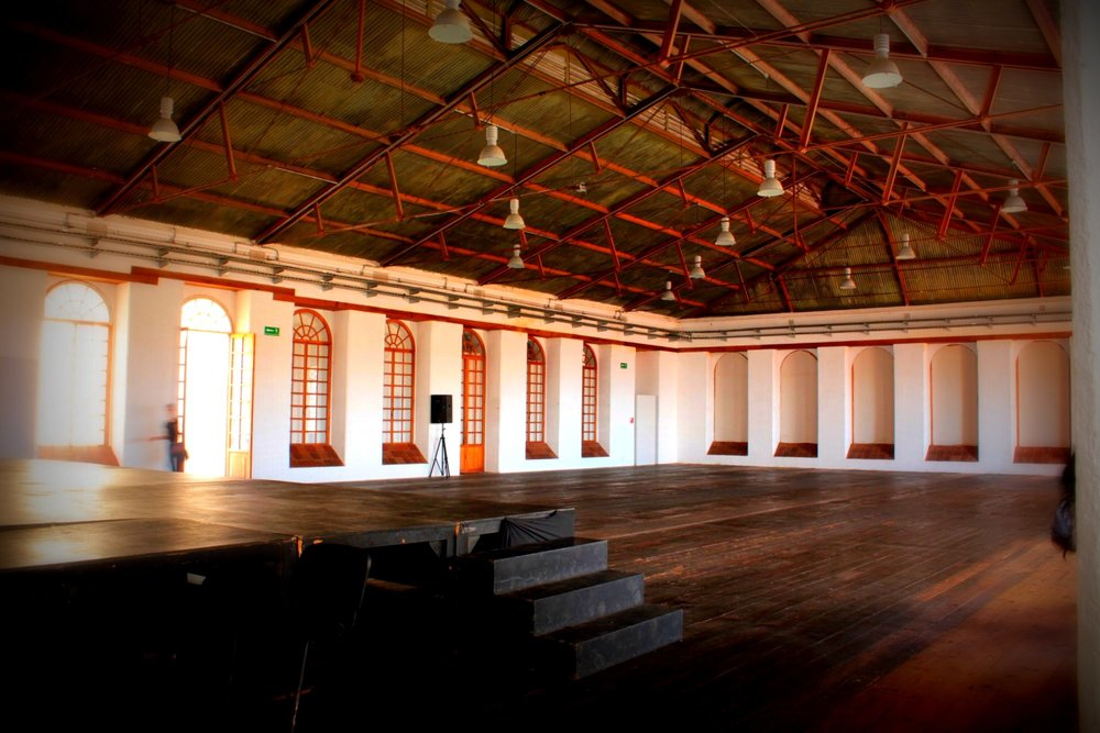 The former industrial weaving floor, now the best dance hall ever!