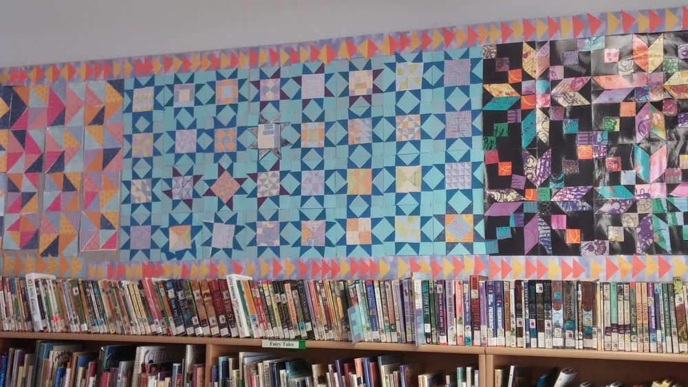 "Part of the finished ""quilt"""