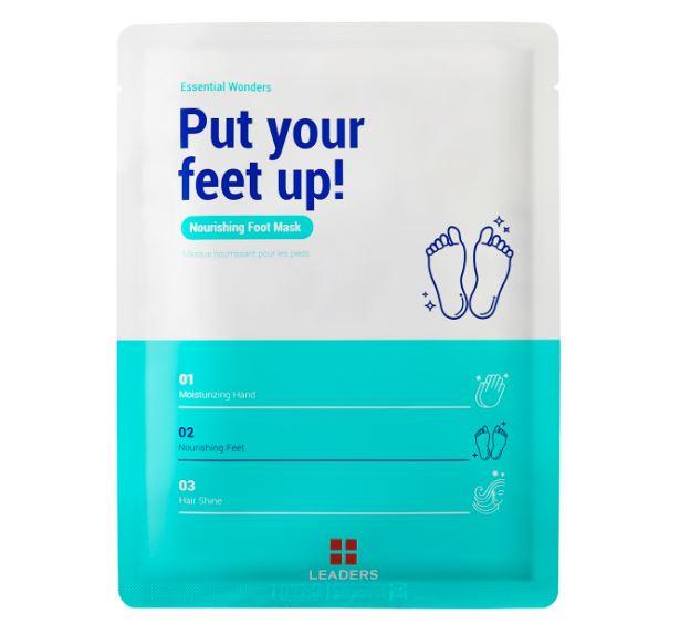 Put your feet up! Nourishing foot mask -