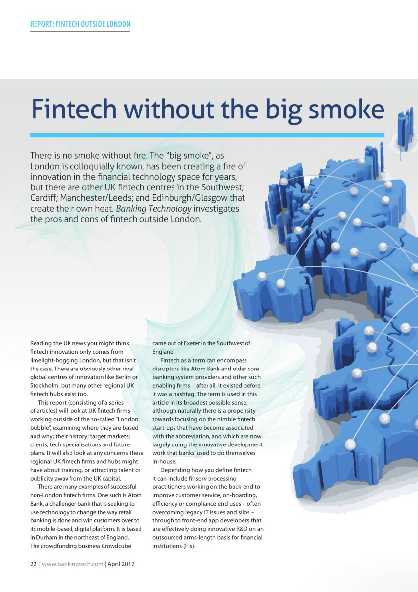 Fintech without the big smoke