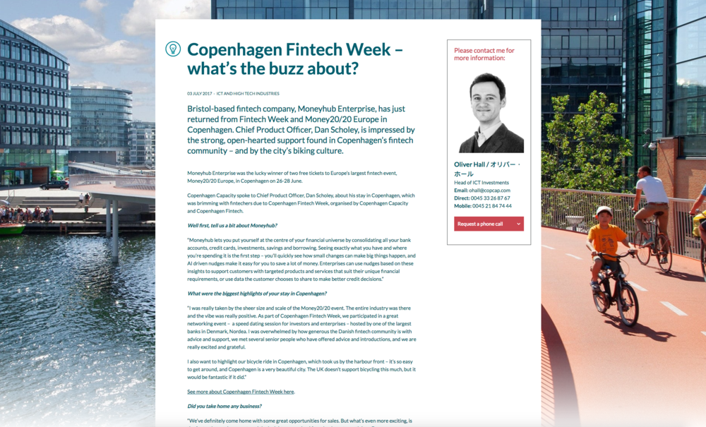 Copenhagen Fintech Week article