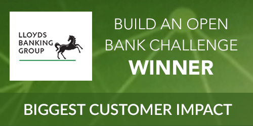 Build an open bank Biggest Customer Impact award