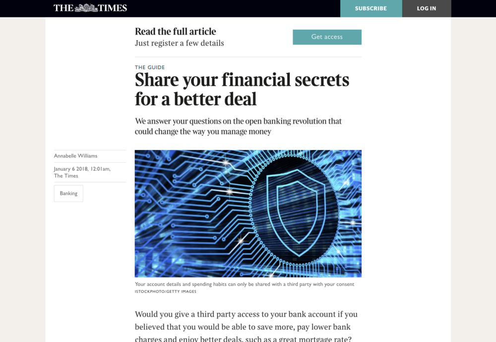 The Times – Share your financial secrets for a better deal article.png