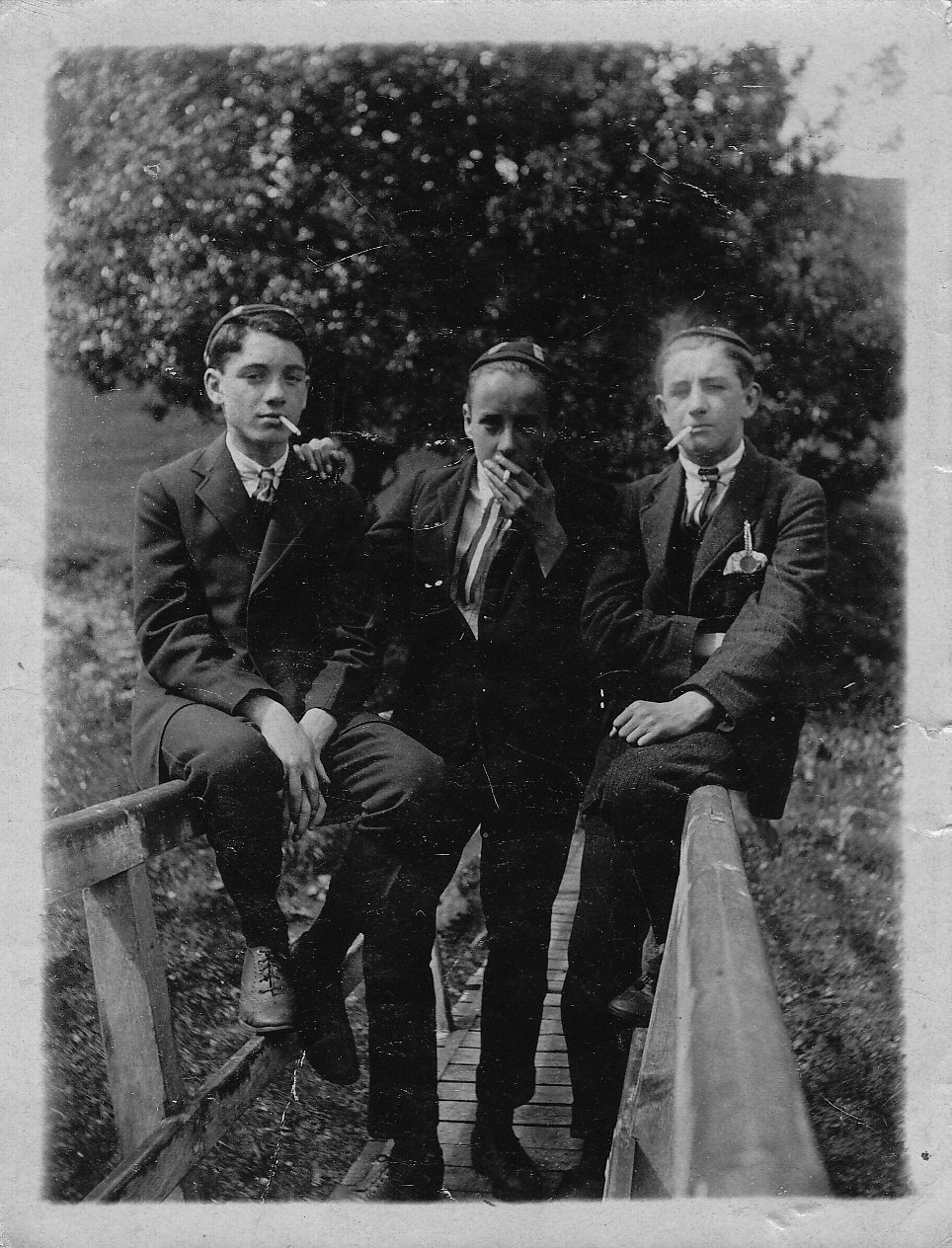 Three relatives (unknown) - seemingly up to no good...