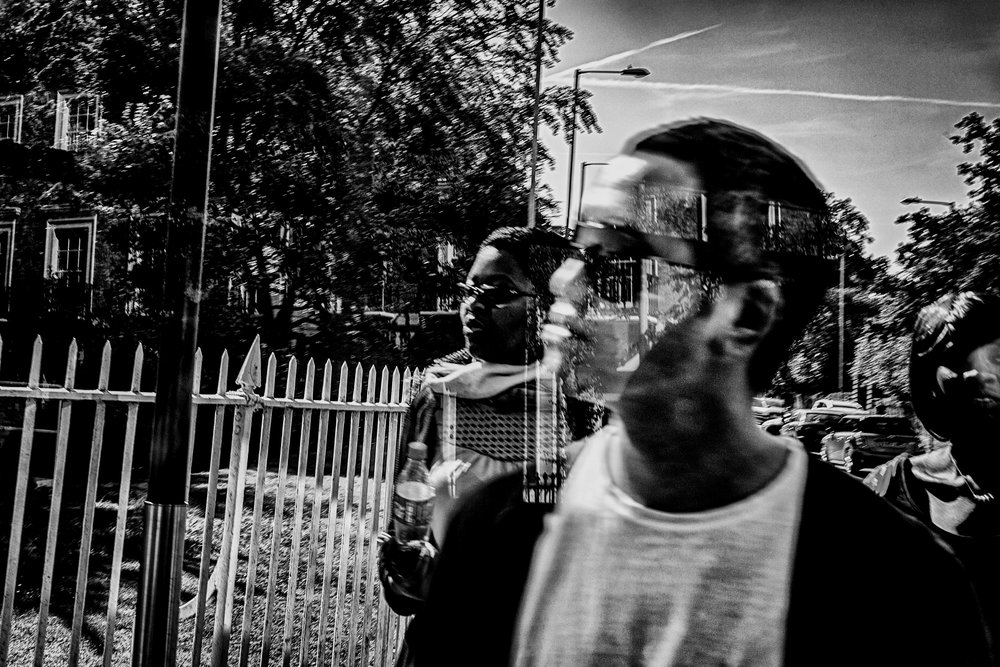 3 Faces - scene from a bus. Cambridge, England; August 2016