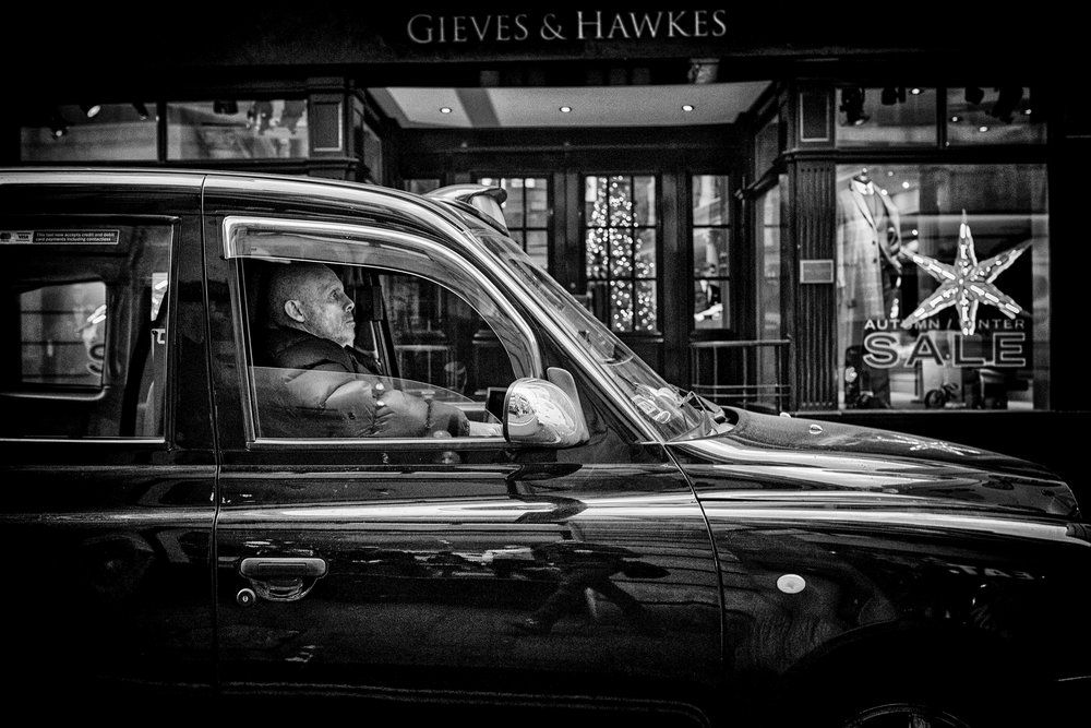 Cabbie at Gieves & Hawkes