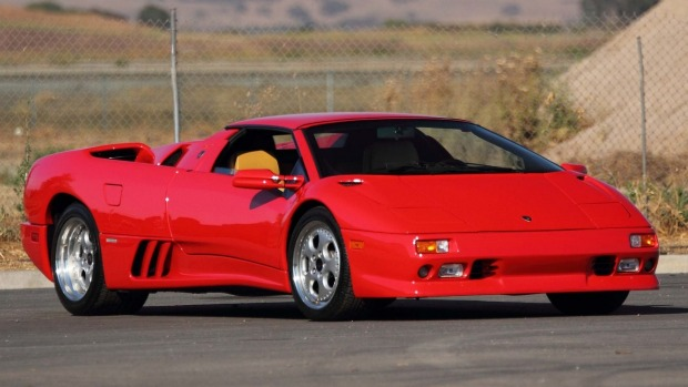 George Foreman's 1997 Lamborghini Diablo VT Roadster which has failed to sell at auction in the US.