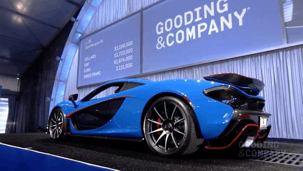 Offered for charity, this 2015 McLaren P1 was estimated to sell for between $2,000,000 and $2,300,000 and ultimately fetched $2,392,500 | Official Auction Page(Credit: Gooding & Co)