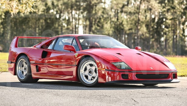 The 77th of 213 F40s built for the US market, this 1990 Ferrari F40 has travelled just 1,600 miles in 27 years. Estimated to sell between $1,300,000 and $1,600,000, it fetched $1,485,000. | Official Auction Page (Credit: Gooding & Co