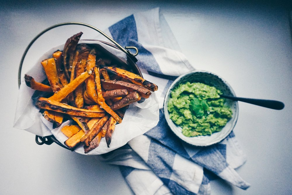 One of our first recipes for the blog -  sweet potato fries