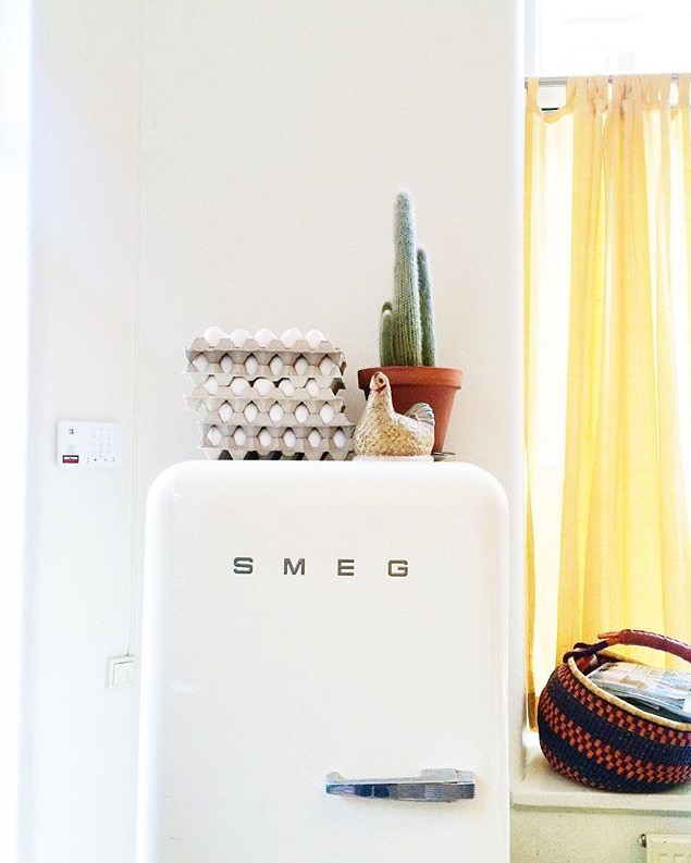 The fridge at Cafe Pom & Flora