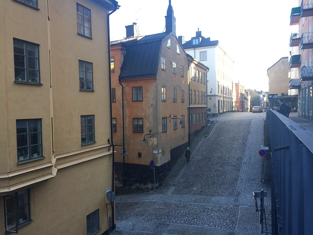 All of the old beautiful houses close to Mariatorget