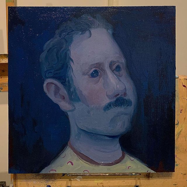 Portrait of a disappointed man• #painting #portrait #oil #artist #figurativeart #figurativepainting #contemporaryart #contemporarypainting