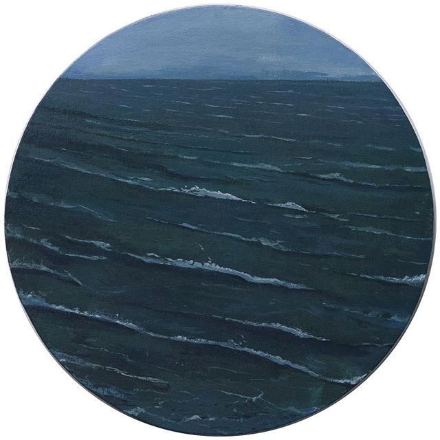 """This painting will be exhibited @muzeevliyagil group show """"Closed Doors"""" along with five other artists' works. March 9 - April 21. Check it out if you are in Ankara • """"So Long"""", acrylic on board, 2017  #painting #seascape #contemporary painting #exhibition #art #contemporaryart #groupshow #muzeevliyagil"""