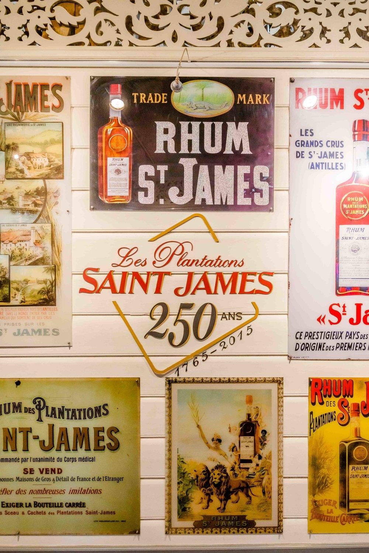 publicités rhum saint-james