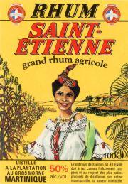 Etiquette de rhum Saint-Etienne