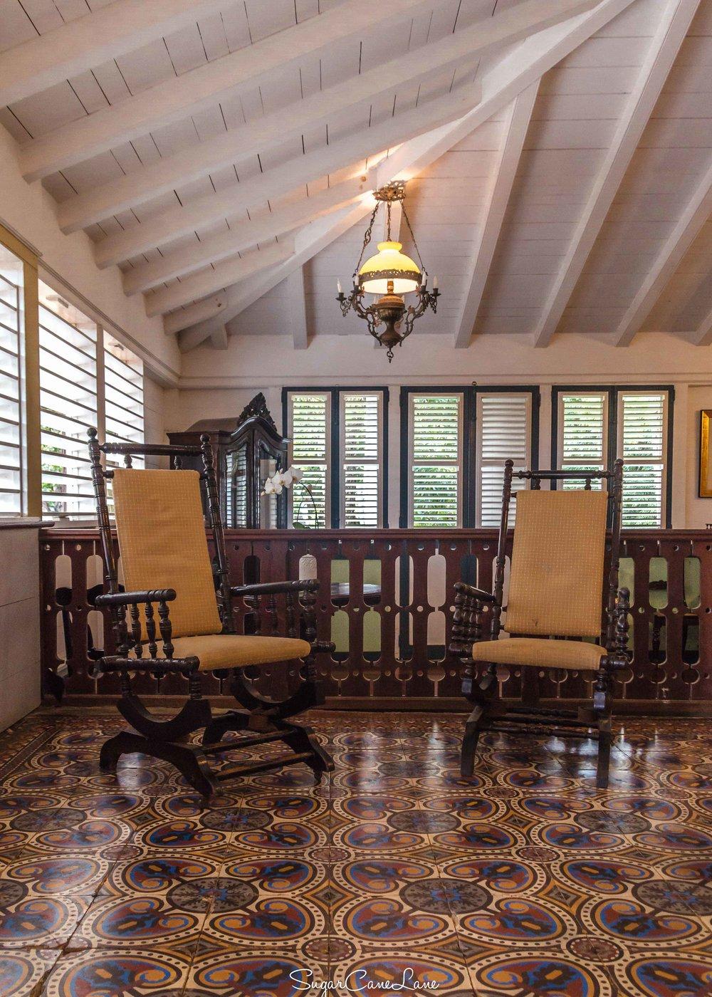 Martinique, Habitation Clément : le séjour