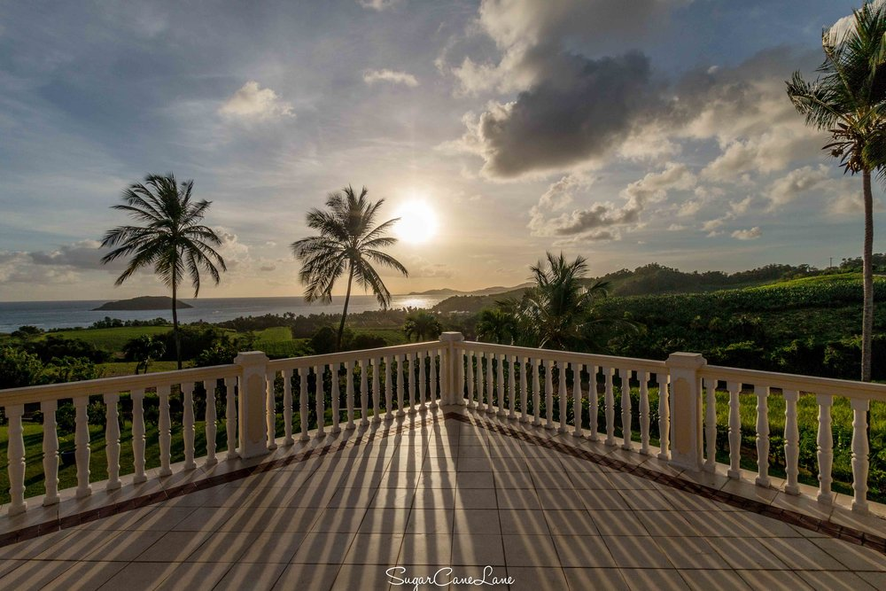 martinique, domaine saint-aubin : sunrise veranda et cocotiers