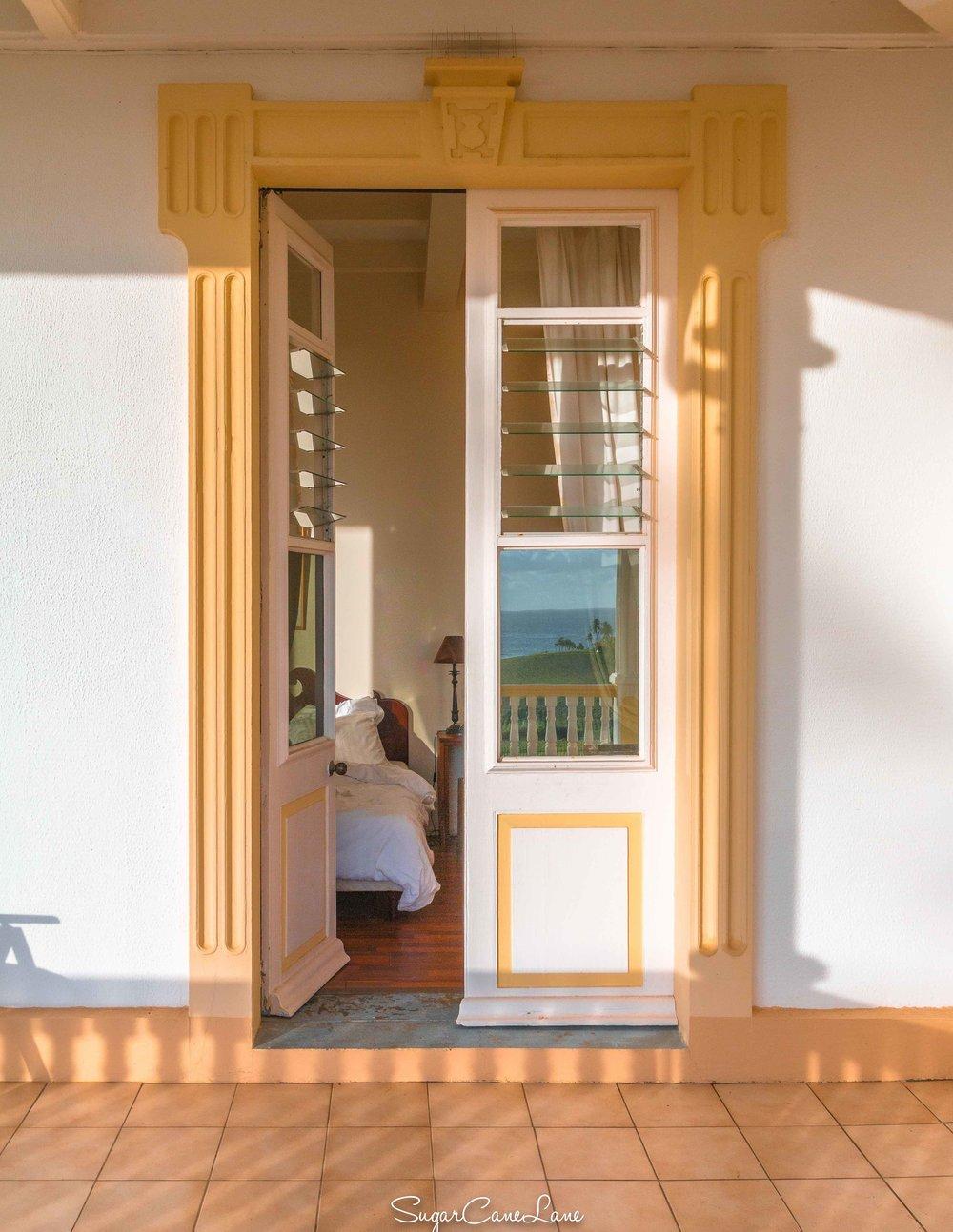 Domaine Saint-Aubin, Martinique : chambre au soleil levant