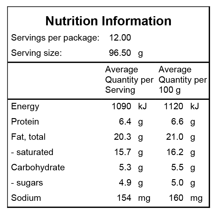 HGC Nutrition Information Paleo Apple Chai Bread