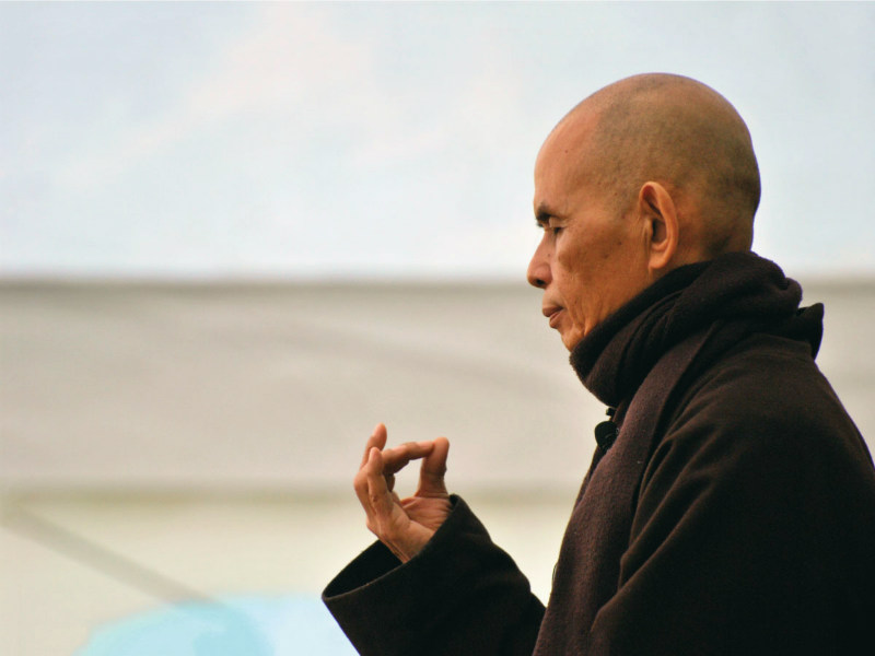 Thich Naht Hanh, Buddhist master renowned for mindfulness teachings.