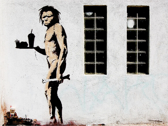 Caveman by Banksy