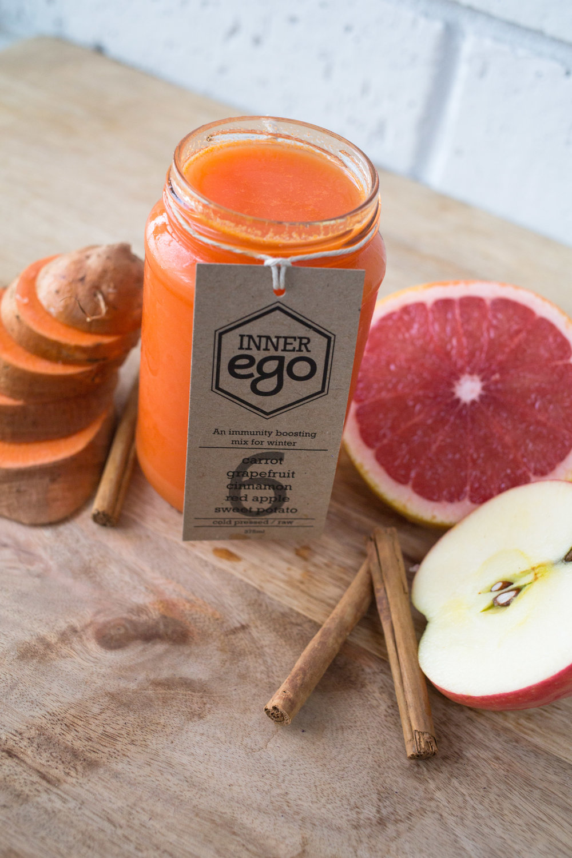 Inner Ego Juice #6: Carrot, grapefruit, cinnamon, red apple, sweet potato