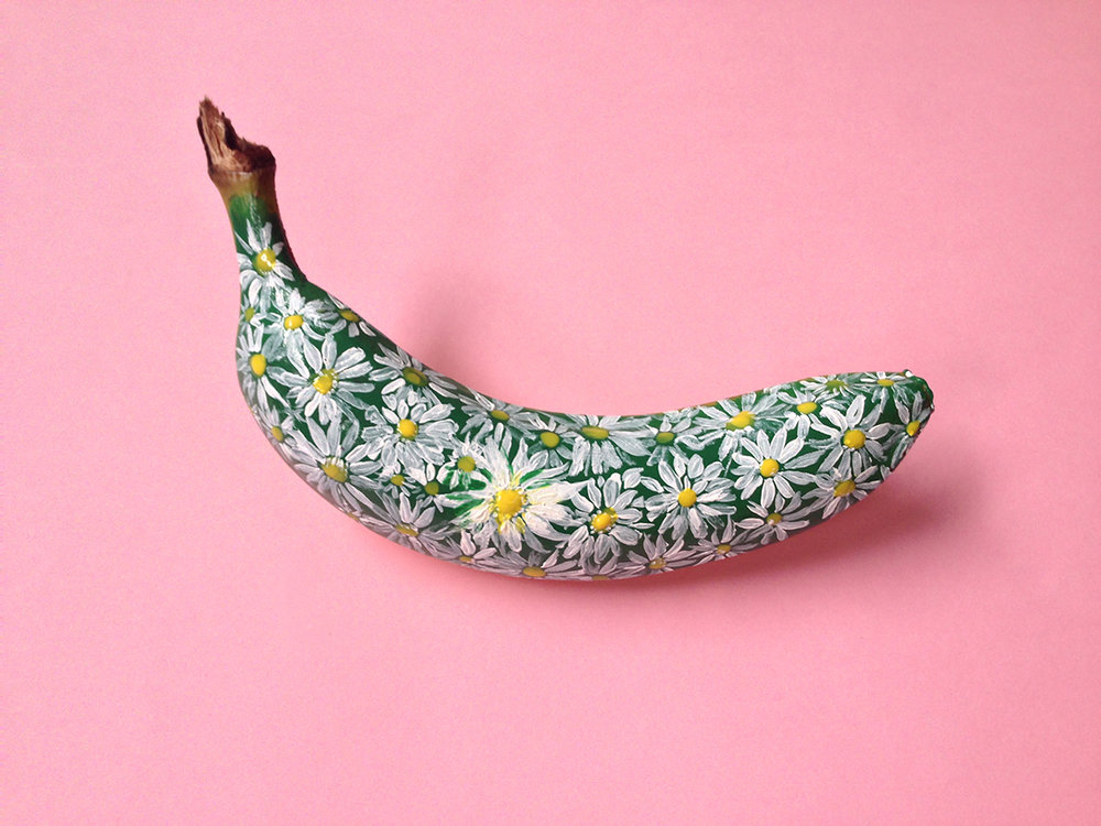 Banana graffiti by Marta Grossi, via behance.net