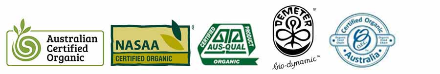 Australian Organic Certification logos via www.sustainableshopper.com.au