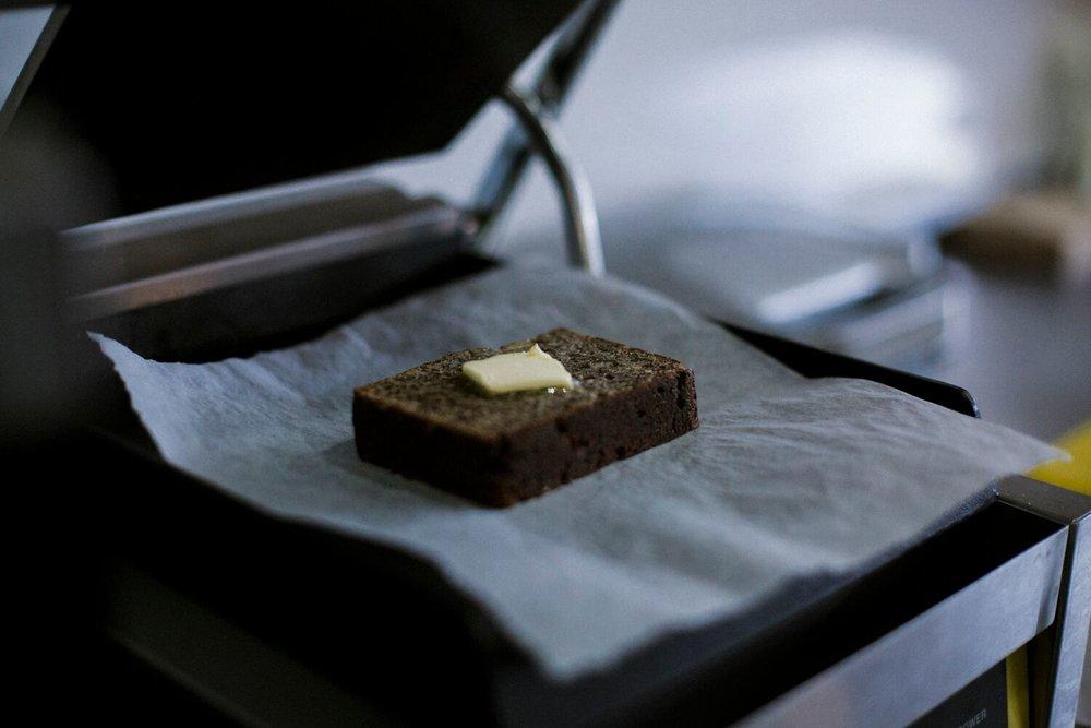 Paleo Banana Bread toasted to perfection. Photo by Jenna Mason.