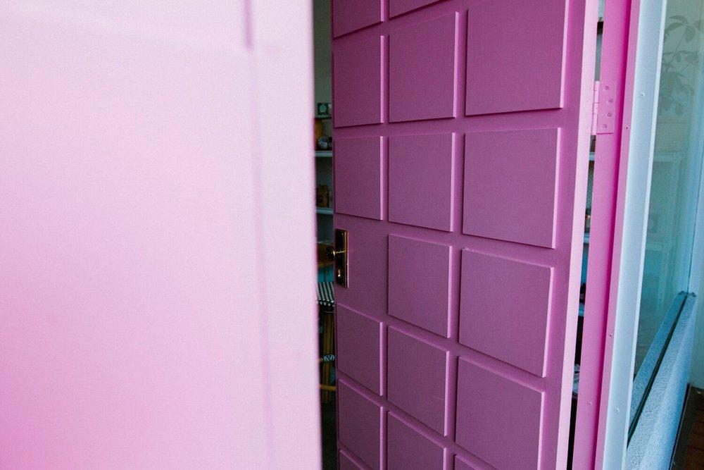 The pink doors. Photo by Jenna Mason.