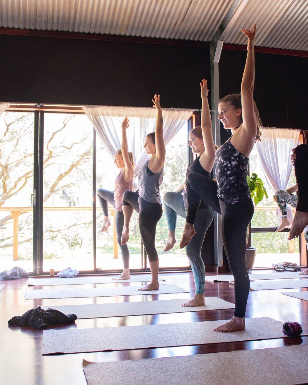 Yoga at a Bare & Wilde retreat