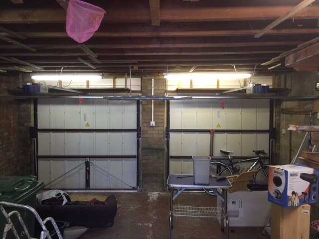 Before: large double garage