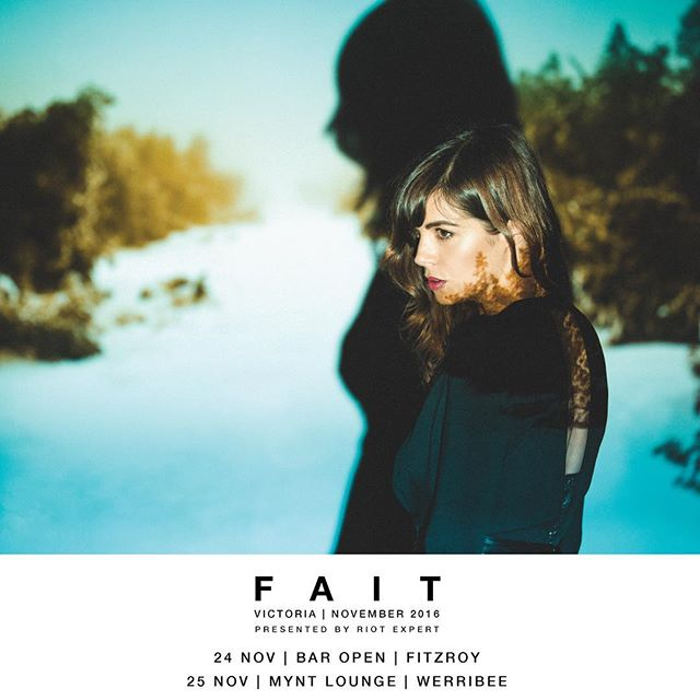 Victoria headline shows just announced ✨ https://www.facebook.com/events/1106609912762332/?ti=ia #fait #sonder #melbourne #baropenfitzroy #livemusic #myntloungewerribee
