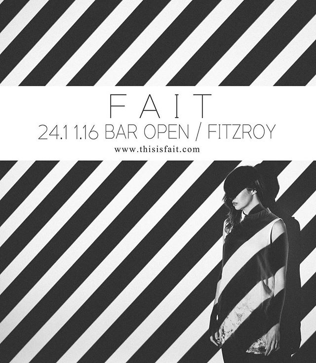Tonight! #fait #baropenfitzroy #melbourne #sonder @rkda_ @feeldsmusic