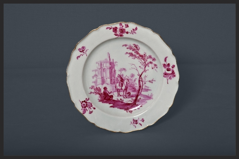 SMS Creative Photography Worcester porcelain lobed dessert plate